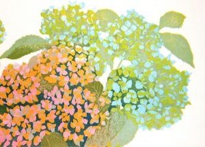 Hortensia, boven rechts/Hydrangea, top right